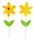 Flor de la decoración con el ladybug Fotografía de archivo libre de regalías