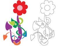 Flor de la hélice stock de ilustración