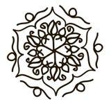 Flor de la mandala Fotos de archivo libres de regalías
