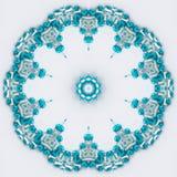 Flor de la mandala de la turquesa Foto de archivo