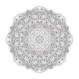 Flor de la mandala Dibujo del garabato Ornamento redondo libre illustration