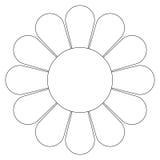 Flor de la margarita (vector) Fotografía de archivo