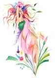 Flor de la mujer libre illustration
