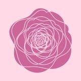 Flor de la rosa del rojo del vector Foto de archivo