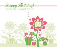 Flor de la tarjeta del día de fiesta. Imagenes de archivo