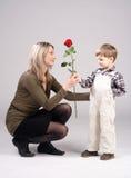 Flor de la tarjeta del día de San Valentín Fotografía de archivo libre de regalías
