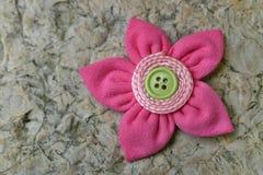 Flor de la tela de Kanzashi Foto de archivo