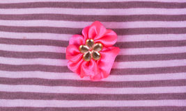 Flor de la tela rosada Imagen de archivo libre de regalías
