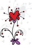 Flor de las tarjetas del día de San Valentín Fotos de archivo