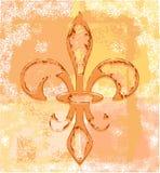 Flor de lis - grunge Imagen de archivo