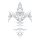 Flor de lis no estilo do origâmi ilustração stock