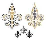 Flor de lis - projeto francês do símbolo, heralry francês Fotos de Stock
