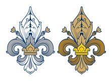 Flor de lis - projeto francês do símbolo, heralry francês Imagens de Stock Royalty Free