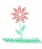 Flor de los clips de papel Imágenes de archivo libres de regalías