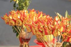 Flor de loto de papel fotos de archivo libres de regalías