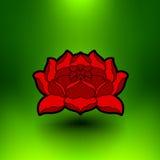 Flor de loto del vector Imagen de archivo libre de regalías