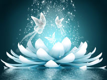 Flor de loto hermosa Foto de archivo libre de regalías
