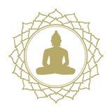 Flor de loto meditativa de Buda fotos de archivo