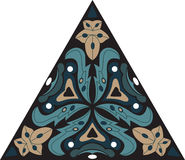 Flor de loto tradicional china oriental del triángulo del modelo libre illustration