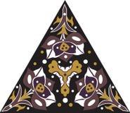 Flor de loto tradicional china oriental del triángulo del modelo stock de ilustración
