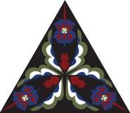 Flor de loto tradicional china oriental del triángulo del modelo ilustración del vector