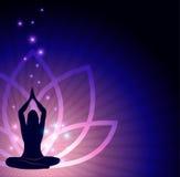 Flor de loto y yoga Imagen de archivo libre de regalías