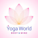 Flor de Lotus como o símbolo da ioga Fotos de Stock