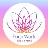 Flor de Lotus como símbolo de la yoga Foto de archivo libre de regalías