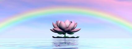 flor de loto arco iris