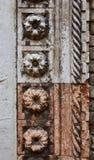 Flor de mármol del portal gótico de la iglesia de San Grerogio Foto de archivo