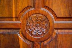 Flor de madera Foto de archivo