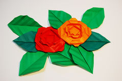 Flor de papel Fotografia de Stock Royalty Free