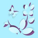 Flor de papel stock de ilustración