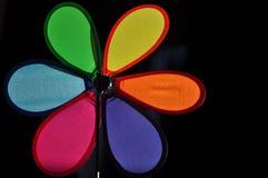 Flor de papel com pétalas vermelhas Fotografia de Stock