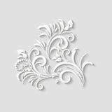 flor de papel de 3d-floral_016Vector 3d Fotos de archivo libres de regalías
