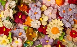 Flor de papel de la artesanía Foto de archivo libre de regalías