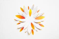 Flor de papel do origami Imagens de Stock