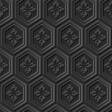 Flor de papel oscura elegante inconsútil del polígono del modelo 368 del arte 3D ilustración del vector