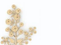 Flor de papel reciclada del origami Fotografía de archivo