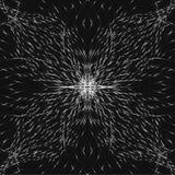 Flor de plata abstracta simétrica, sombras inconsútiles del fondo gris ilustración del vector