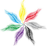 Flor de plumas Ilustración del Vector