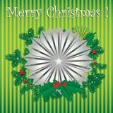 Flor de prata do Natal Fotografia de Stock