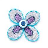 Flor de Quilling com bobinas de papel foto de stock royalty free