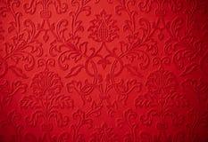 Flor de repetição barroco elegante do vermelho de cereja do Natal Fotos de Stock Royalty Free