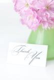 Flor de Sakura en un florero Fotografía de archivo libre de regalías