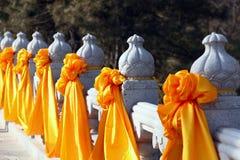 Flor de seda amarilla Fotografía de archivo