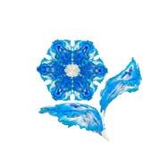 Flor de seda azul Imagenes de archivo