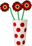Flor de três vermelhos ilustração do vetor
