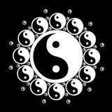 Flor de Yin Yang Ilustração do Vetor