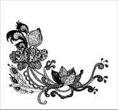 Flor de Zentangle Imagens de Stock